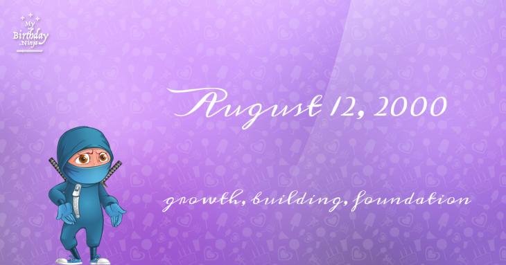 August 12, 2000 Birthday Ninja