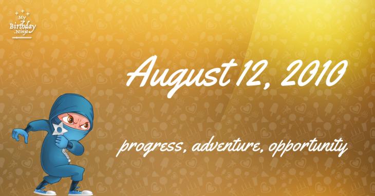 August 12, 2010 Birthday Ninja
