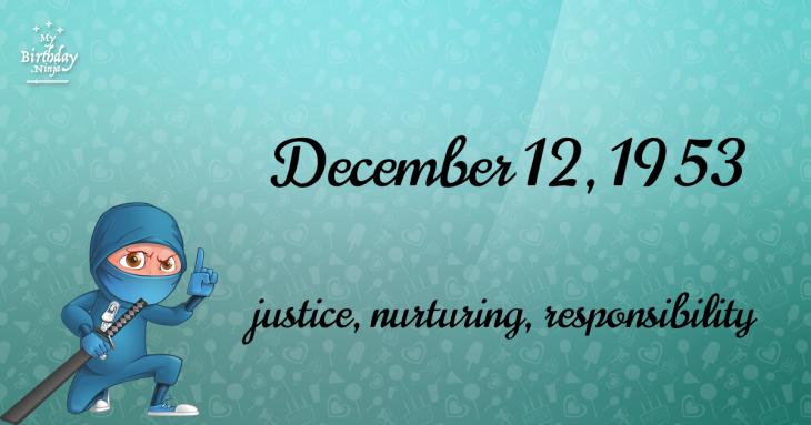 December 12, 1953 Birthday Ninja