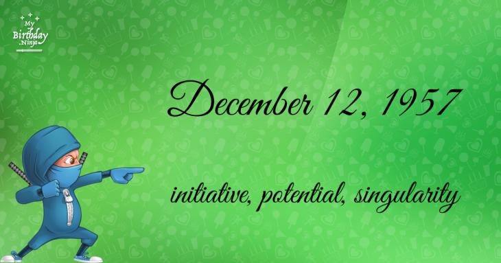 December 12, 1957 Birthday Ninja