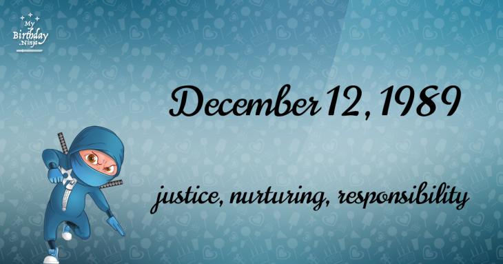December 12, 1989 Birthday Ninja