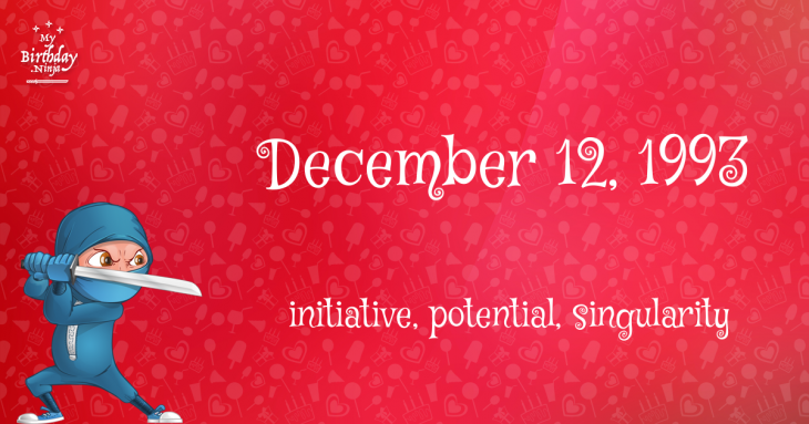 December 12, 1993 Birthday Ninja