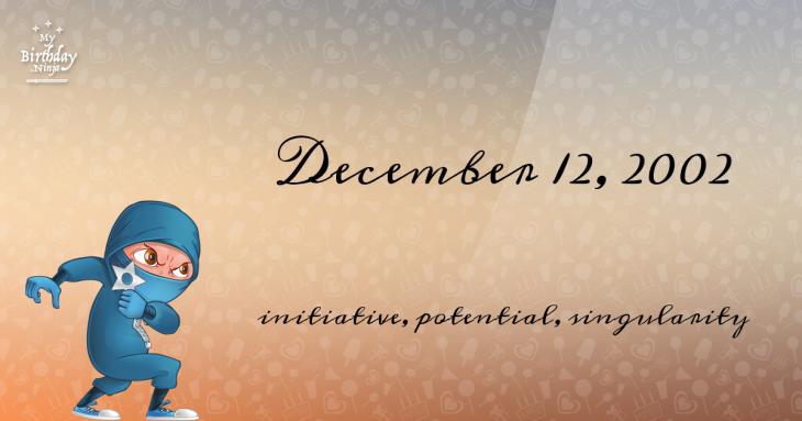 December 12, 2002 Birthday Ninja