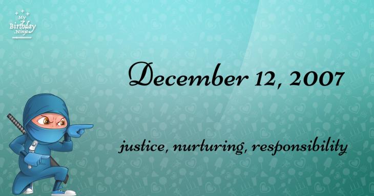 December 12, 2007 Birthday Ninja