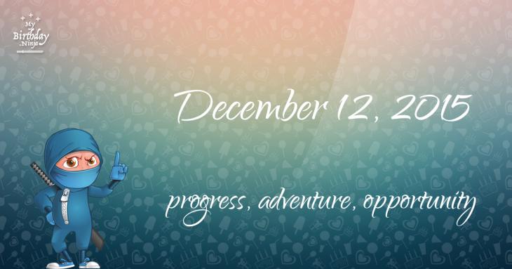 December 12, 2015 Birthday Ninja