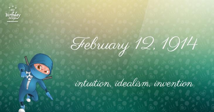 February 12, 1914 Birthday Ninja