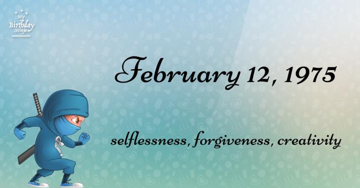 February 12, 1975 Birthday Ninja