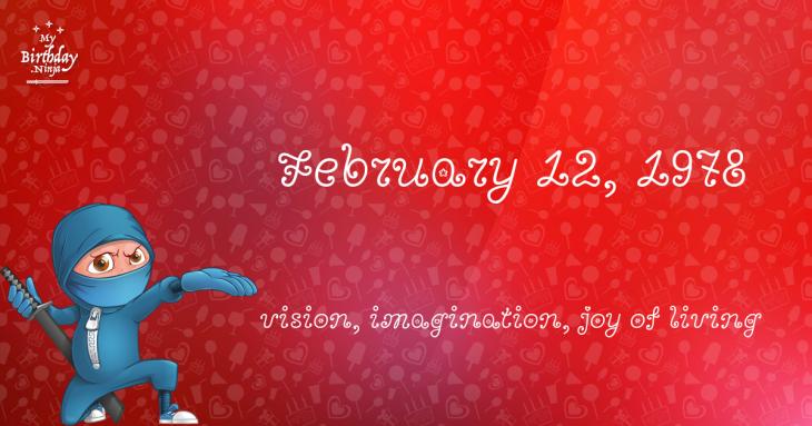 February 12, 1978 Birthday Ninja