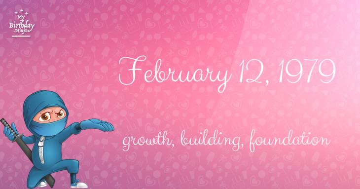 February 12, 1979 Birthday Ninja