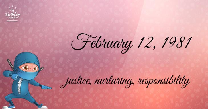 February 12, 1981 Birthday Ninja