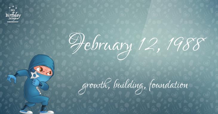 February 12, 1988 Birthday Ninja