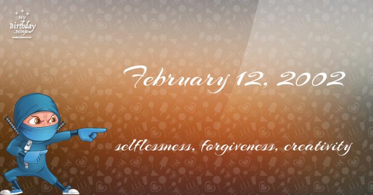 February 12, 2002 Birthday Ninja