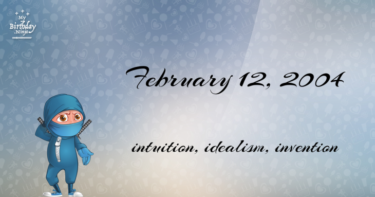 February 12, 2004 Birthday Ninja