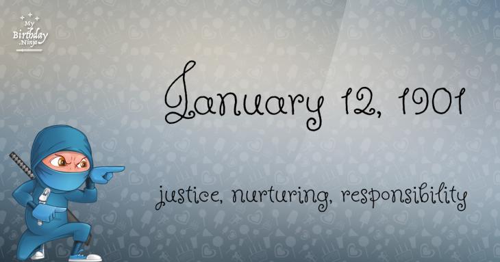 January 12, 1901 Birthday Ninja