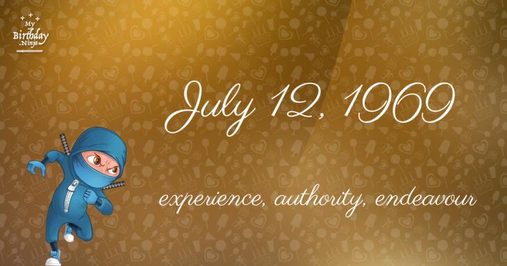 July 12, 1969 Birthday Ninja