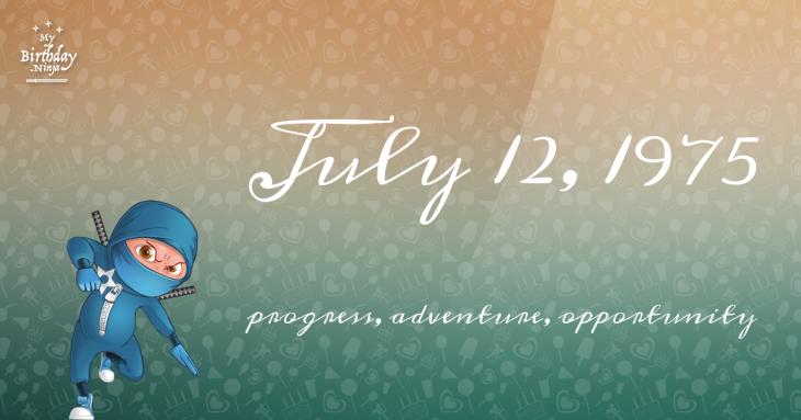 July 12, 1975 Birthday Ninja