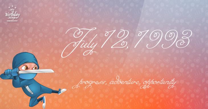 July 12, 1993 Birthday Ninja