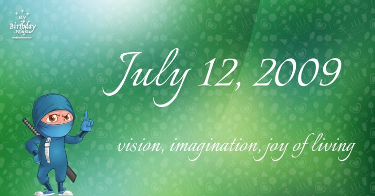 July 12, 2009 Birthday Ninja
