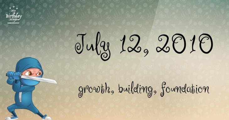 July 12, 2010 Birthday Ninja