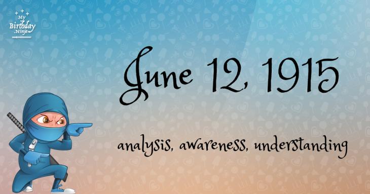 June 12, 1915 Birthday Ninja