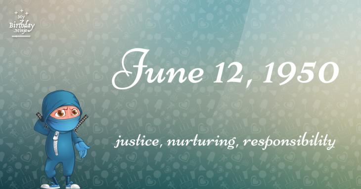 June 12, 1950 Birthday Ninja