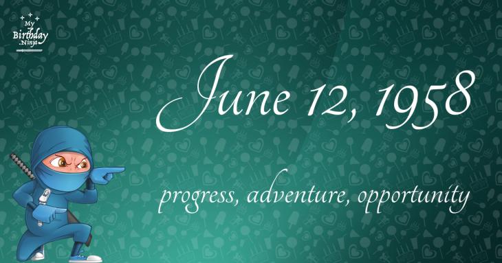 June 12, 1958 Birthday Ninja