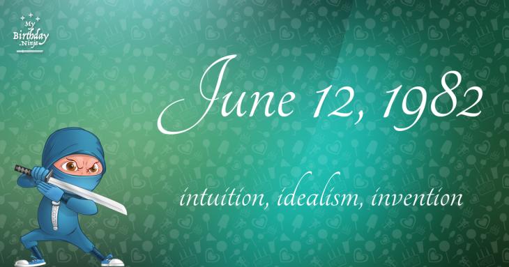 June 12, 1982 Birthday Ninja