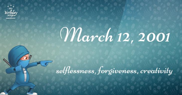 March 12, 2001 Birthday Ninja
