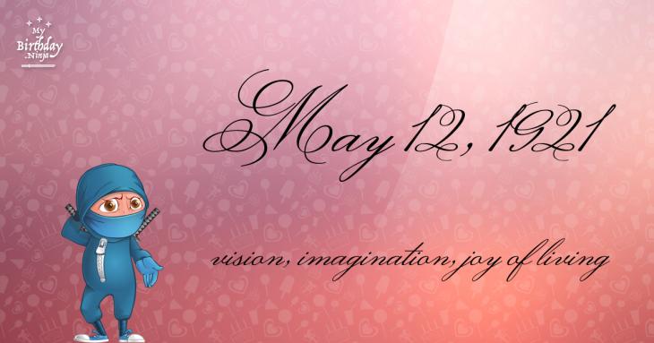 May 12, 1921 Birthday Ninja