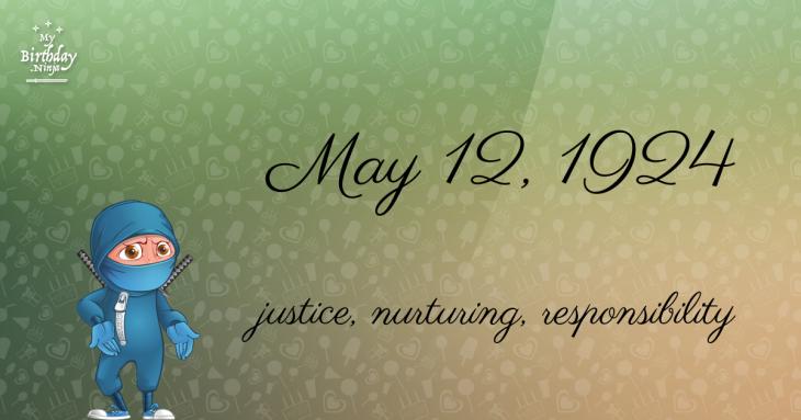 May 12, 1924 Birthday Ninja