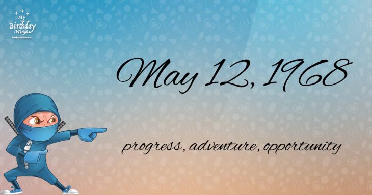 May 12, 1968 Birthday Ninja