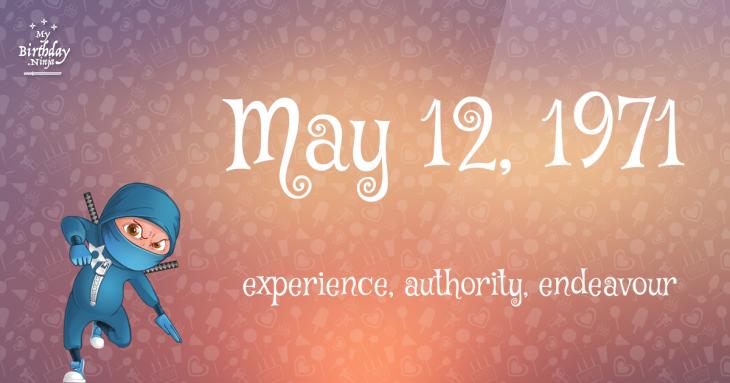 May 12, 1971 Birthday Ninja