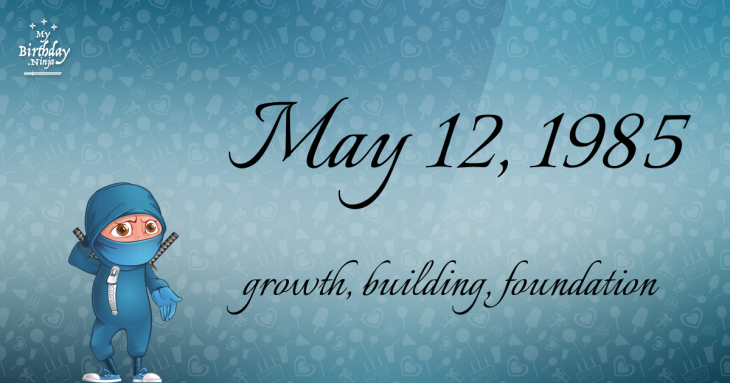 May 12, 1985 Birthday Ninja