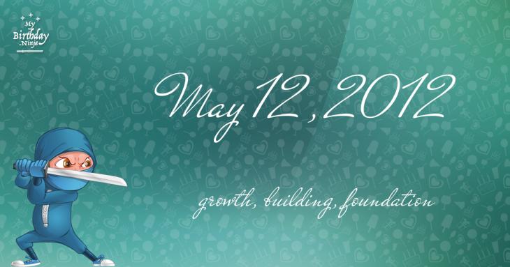 May 12, 2012 Birthday Ninja