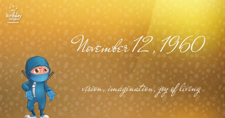 November 12, 1960 Birthday Ninja