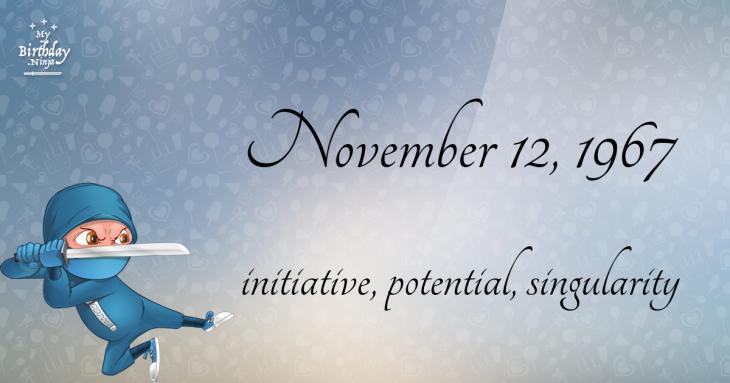 November 12, 1967 Birthday Ninja