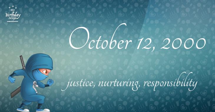 October 12, 2000 Birthday Ninja