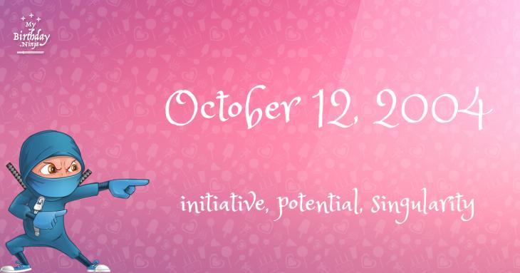 October 12, 2004 Birthday Ninja