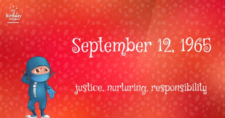 September 12, 1965 Birthday Ninja