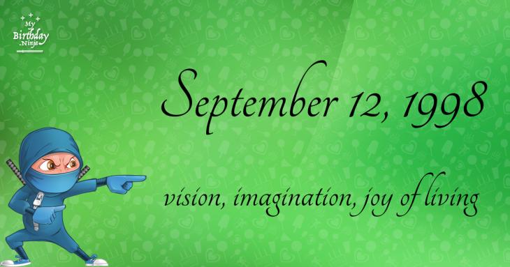 September 12, 1998 Birthday Ninja
