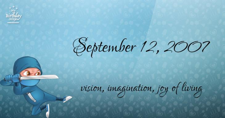 September 12, 2007 Birthday Ninja