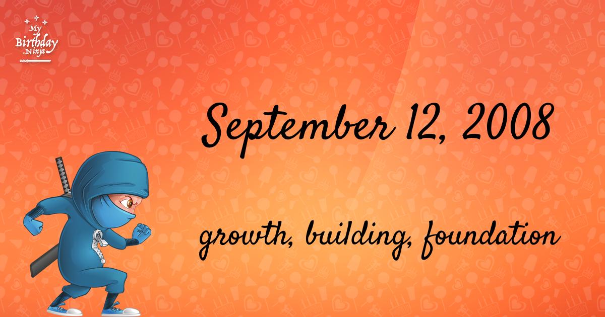 September 12, 2008 Birthday Ninja Poster