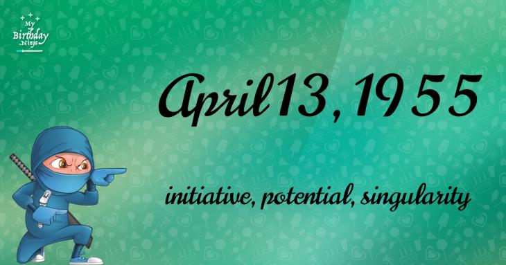 April 13, 1955 Birthday Ninja