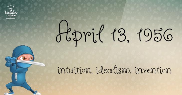 April 13, 1956 Birthday Ninja