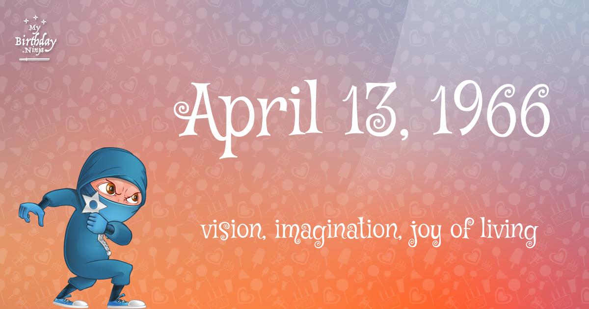 April 13, 1966 Birthday Ninja Poster