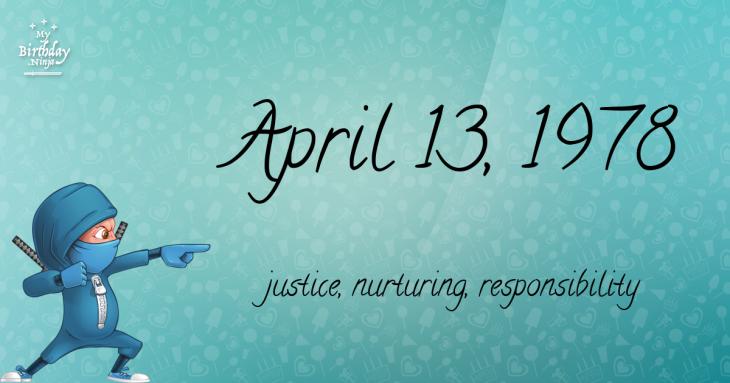 April 13, 1978 Birthday Ninja