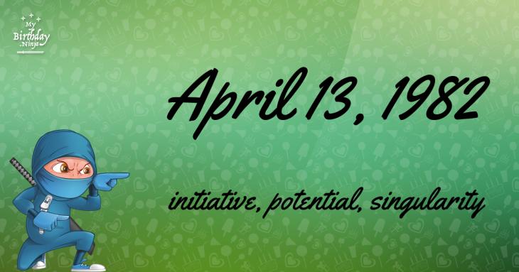 April 13, 1982 Birthday Ninja