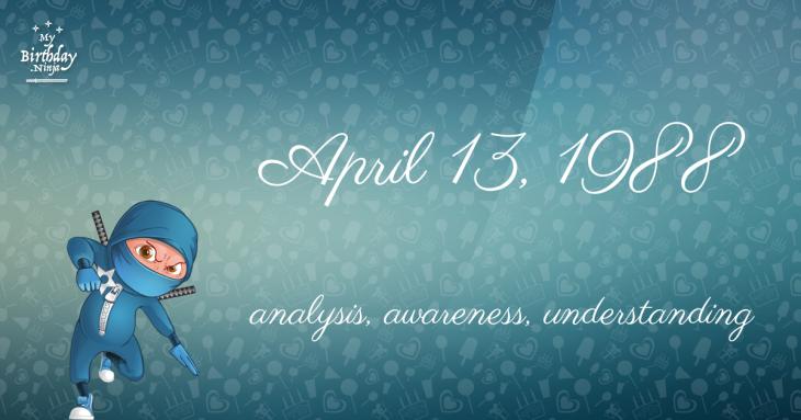 April 13, 1988 Birthday Ninja
