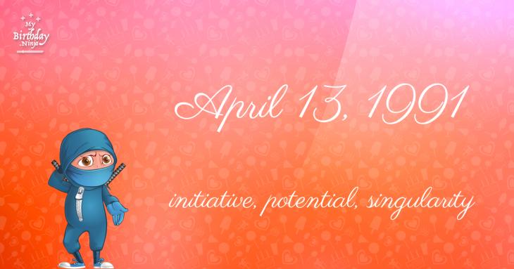 April 13, 1991 Birthday Ninja