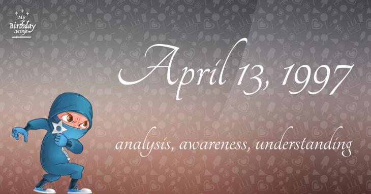 April 13, 1997 Birthday Ninja